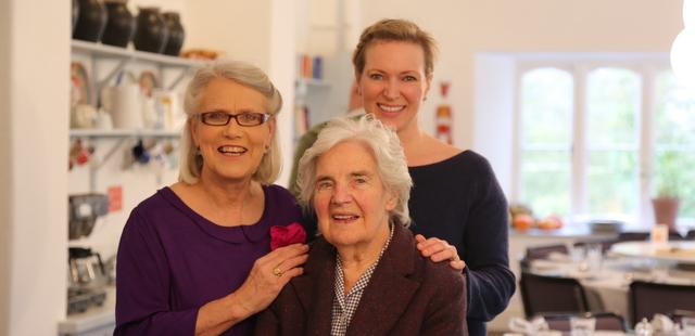 Myrtle, Darina and Rachel Allen