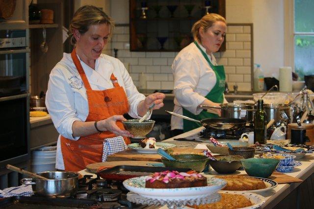 Rachel Allen Demonstrating at Ballymaloe Cookery School