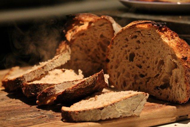 Fresh Sourdough bread at Ballymaloe Cookery School