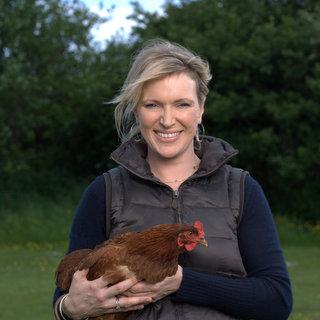 Rachel Allen with Hen.