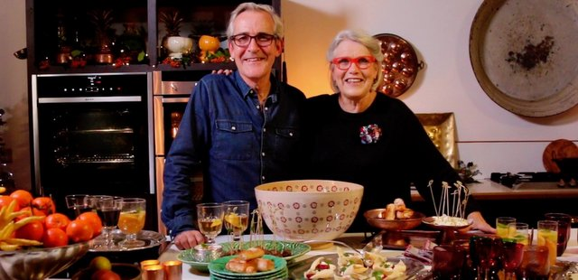 Darina and Rory with specialty Christmas dishes