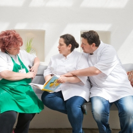Pamela Black with Honey & Co. LitFest '15  - Ballymaloe Cookery School