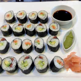 A Platter of Sushi
