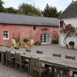 The Pink Cottage and Courtyard at Ballymaloe Cookery School