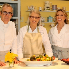 Rory O'Connell, Darina Allen and Rachel Allen - Ballymaloe Cookery School