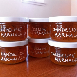 Pots of Dandelion Marmalade from Colstoun Cookery School