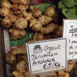 Jerusalem artichokes on sale at the cookery school shop - Ballymaloe Cookery School
