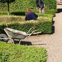 Gardeners Susan & Sonya working in the Herb Garden - Ballymaloe Cookery School