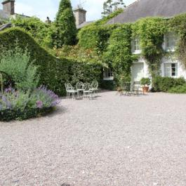 Cottages and the courtyard at Ballymaloe Cookery School