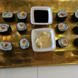 Sushi with  pickled ginger at Ballymaloe Cookery School