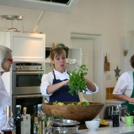 Skye Gyngell and Darina Allen at Ballymaloe Cookery School