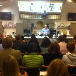 John Wilson tasting in the demo room at Ballymaloe Cookery School