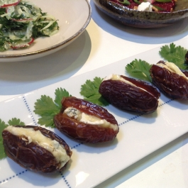 Medjool Dates with Dolcelatte Cheese - Small Plate Ideas - Ballymaloe Cookery School
