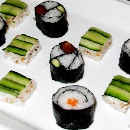 Selection of freshly made sushi