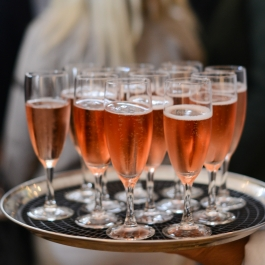 A welcoming glass of sparkling wine