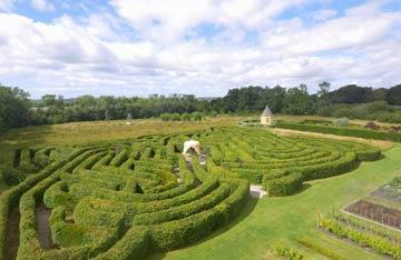 Ariel view of Ballymaloe Garden Celtic Maze