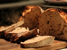 Fresh Sourdough bread at Ballymaloe Cookery School